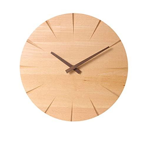 Reloj de Pared Decorativo Reloj de Pared rústico Reloj Grande Hecho a Mano Reloj de Madera Real Hermoso Reloj de Pared Decorativo Reloj de Pared Grande de Gran tamaño Reloj de Pared Grande R