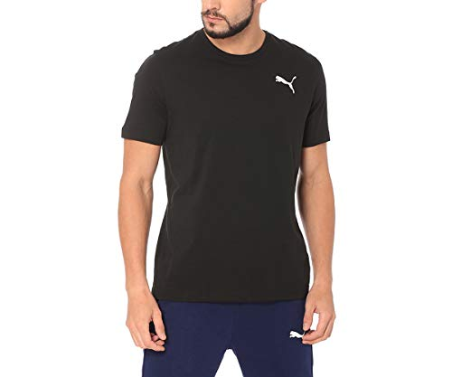 PUMA T-Shirt Essentials Small Logo pour Homme Cotton Black-_Cat L