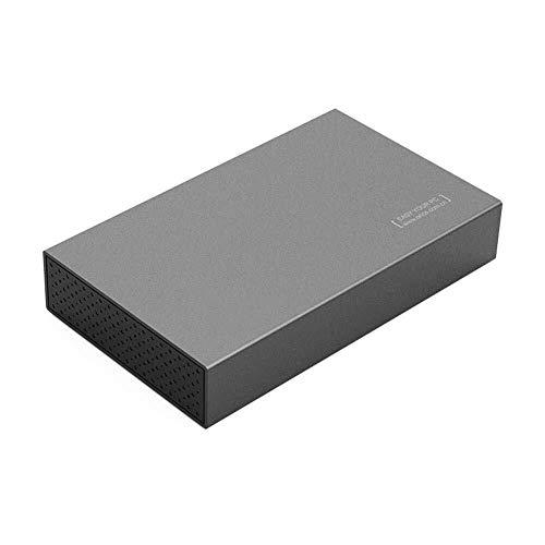 RENQUNCANG aluminium 3,5 inch USB 3.0 voor SATA3.0 harde schijf met hoge snelheid, ondersteunt harde schijven tot 8 TB SATA HDD Serial SSD (Color : Zwart)