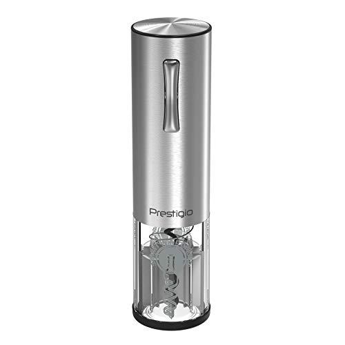 Prestigio Nemi Ouvre-bouteille de vin automatique - Tire-bouchon électrique rechargeable avec aérateur, bouchon de vide et coupe-papier