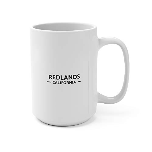 Redlands, California Map Mug (15 oz)