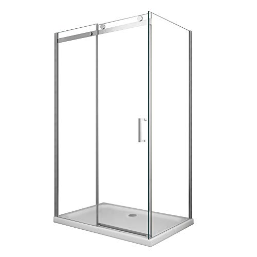 Grg Box Doccia 90x120 CM H190 Trasparente con Easy-Clean MOD. Cosmopolitan