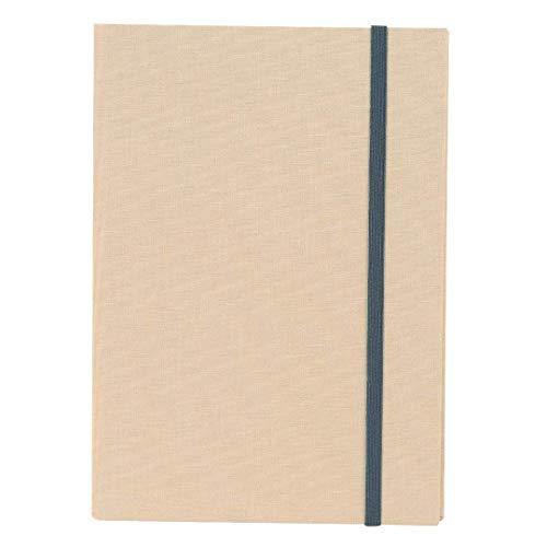 goldbuch Notizbuch A5, Linum, 200 chamoisfarbene Blankoseiten, Leinen, Beige, 64931