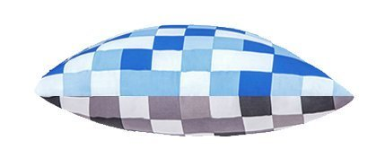 Blue & Grey Pixels Scatter Cushion Ready Filled with Hollowfibre Pad. Size: 18' (45cm)