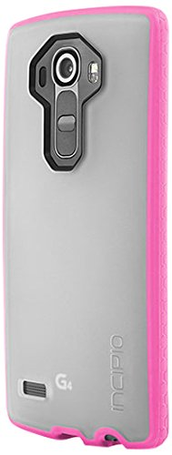 LG G4 Case, Incipio [Clear] Octane Case for LG G4-Frost/Neon Pink