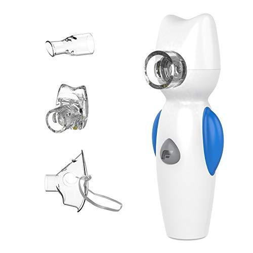 Feellife Air Angel Inhalator Vernebler, Inhaliergerät für Kinder, Inhalationsgerät mit 2 Medizinbecher, tragbar und leise, für zu Hause oder unterwegs, für Atemwegserkrankungen