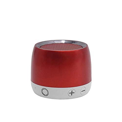 Altavoz Bluetooth, altavoces portátiles de Bluetooth 4.2, Woofer rico, estéreo ruidoso.Altavoz adecuado para reuniones familiares y viajes al aire libre. mei (Color : Red)