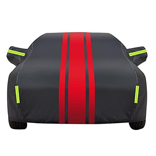 FFLLBPS0914 Funda Coche,Cubierta automática de Oxford al Aire Libre, para Renault Clio Twingo Anti-UV Impermeable Resistente al Viento Transpirable(Color:BR,Size:Twingo)