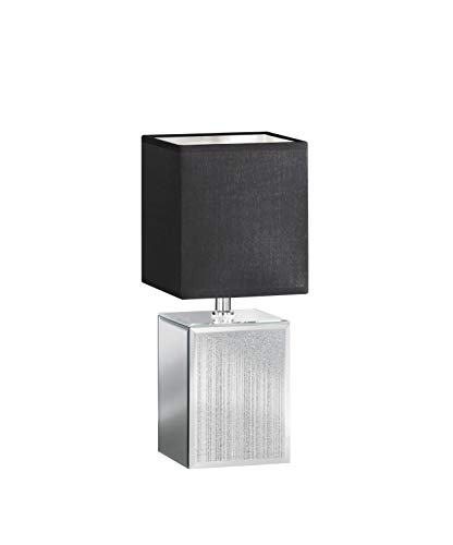 Fischer&Honsel Bert Tafellamp, glas, 40 W, zilverkleurig