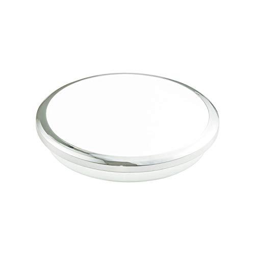 帆布バッグ 買い物バッグ 現代のLEDシーリングライト防水浴室光ベッドルームミラーライトモーションセンサーシーリングランプ 贈り物 (Body Color : Silver lamp, Emitting Color : Warm white)