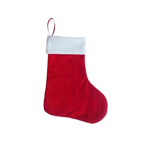 Boburyl Rosso Bianco Calza della Befana Hanging calzino calza borsa regalo albero di Natale Calzini Candy Pouch container decorazioni della festa