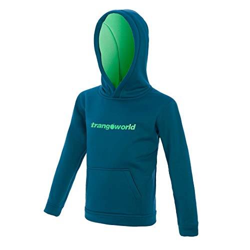 Trangoworld Kura Maillot de survêtement Mixte Enfant, Bleu Outremer/Vert Printemps, 12