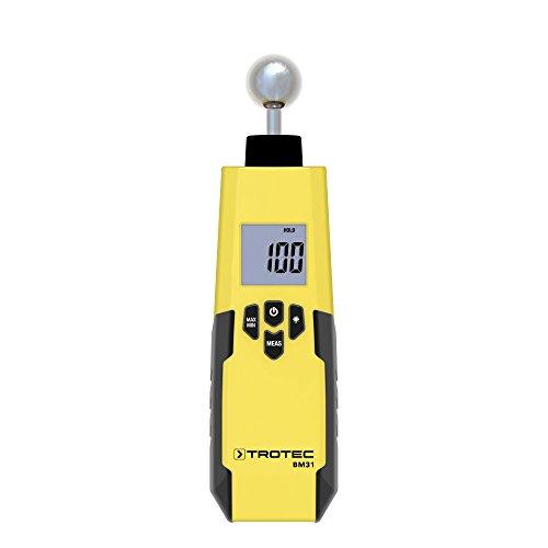 TROTEC Feuchteindikator BM31 Feuchtemessgerät (5-40 mm) Feuchtigkeit Messen Schimmel Wand Boden Decke Messgerät Innen-Raum