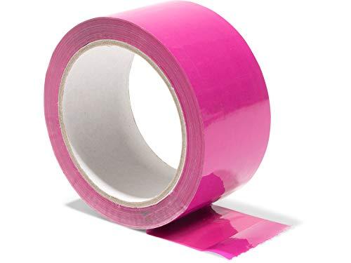 Modulor Verpackungsband, farbiges Klebeband aus Polypropylen, leise abrollendes Paketband mit Acrylatkleber, Breite 5 cm x Länge 66 m, 48 µm dick, pink