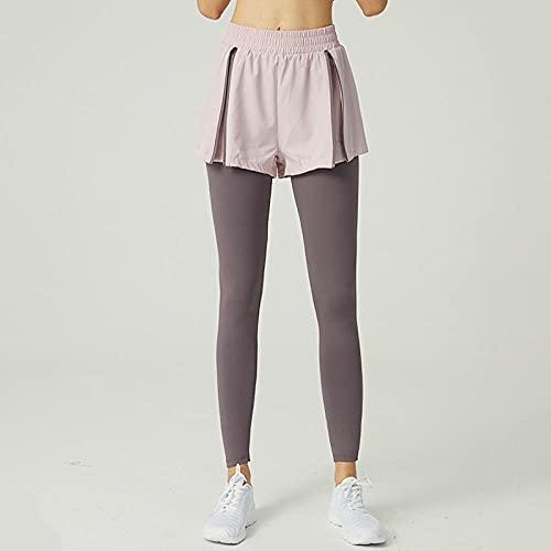 WENHUA Mujer Yoga de Alta Cintura Pantalones de Yoga, Mallas de Yoga para Correr Anti-Ligeras, A_M, Deportivos Conjunto de Polainas de Yoga para