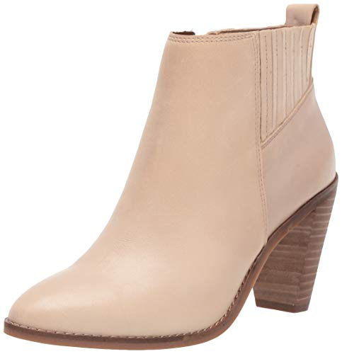 Lucky Brand Women's NESLY Ankle Boot, Stone, 8 M US