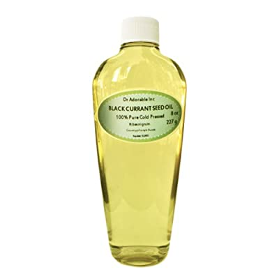 Black Currant Oil - 15% GLA Organic 100% Pure Cold Pressed 8 Oz