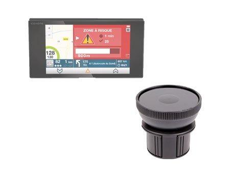 DURAGADGET Support Fixation Porte-gobelet Voiture pour GPS/Assistant d'aide à la conduiteCoyote Nav, Mappy Maxi E618 Europe - Garantie 5 Ans