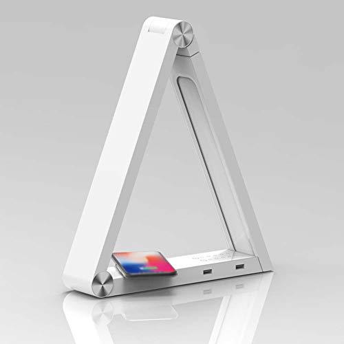 SXFYWYL Smart LED-tafellamp, dubbele USB-oplader, draadloos, voor het lezen van het werk