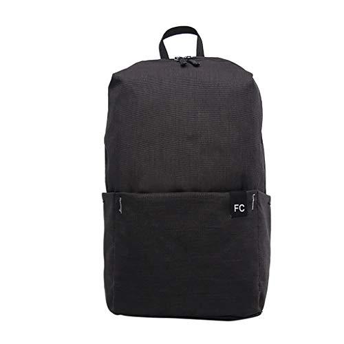 VECOLE Rucksäcke Damen wasserdichte Schülertasche Großraumreisetasche Rucksack Ultraleicht Faltbar Schulranzen Outdoor-Shopping Reiserucksack(Schwarz)