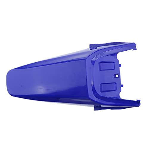 Cola Trasera Delgada de la Moto Cola de Guardabarros para el Estilo CRF70 Pit Pro Trail Dirt Rueda Trasera Evite el Escudo de Salpicaduras (Color : Azul)