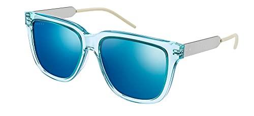 Gucci Gafas de Sol GG0976S Blue/Blue 56/16/145 hombre