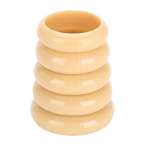 GAESHOW Vide Manucure Boîte De Rangement Nail Art Décoration Organisateur De Stockage Nail Pen Titulaire Vide Manucure Boîte De Rangement(Jaune)