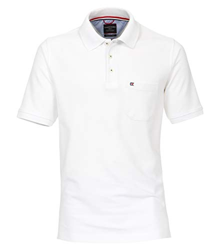 CASAMODA Herren Polo-Shirt Uni Weiß XL