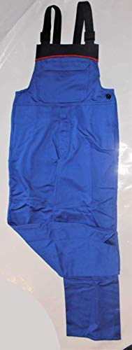 HB Störlichtbogenschutz Latzhose royal/navy/rot Arbeitshose Arbeitskleidung Hose, Größe:52