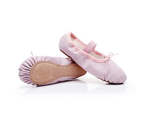 Lily's Locker- Scarpette da Danza per Ragazze con Suola Intera in Pelle Scarpe da Ballerina per Bambini e Adulti (Rosa, Numeric_33)
