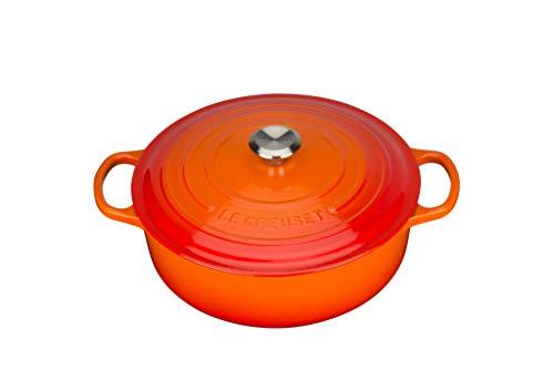 LE CREUSET Gourmet-BRÄTER SIG 30 cm OFENROT, Gusseisen, Orange