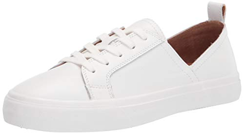 Lucky Brand womens DANSBEY Casual Sneaker, White Leather, 5 M US