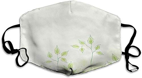 Fresh Foliage Design With Pastel Colored Leaves Botanic Environment Eco Purity Image Reusable Face shiled Balaclava Washable Outdoor Nose Mouth Cover for Men and Women