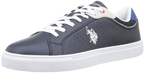 U.S. Polo Assn. Curty, Zapatillas de Gimnasia para Hombre, Multicolor (BLU Scuro/BLU 004), 44 EU