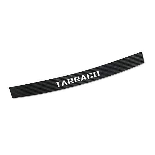 MWDDM ProteccióN para Parachoques para Tarraco, Protector De Parachoques Trasero, Pegatinas De Carbono Protector, De Parachoques Trasero Puerta Sill Kick Scuff Pedal Sticker Anti-Scratch