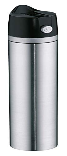 alfi 5817.205.035 Coffee To Go Trinkbecher isoMug Perfect, Edelstahl mattiert 0,35 l, zerlegbarer Verschluss, Spülmaschinenfest, 4 Stunden heiß