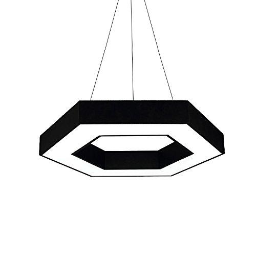 ZTH Einfache Und Stilvolle Geometrische LED Kronleuchter Bürobeleuchtung Sechseckigen Restaurant Lampe Schlafzimmer Lampe Netto Kaffee Sechseckigen Kronleuchter Weißes Licht Kreative Technik Lampe 40-