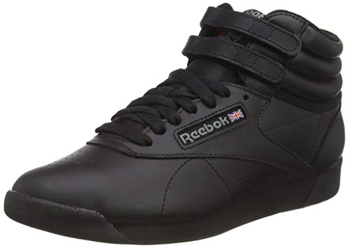 Reebok Freestyle Hi Women's Hi Top Sneakers, Black (Intense Black), 4 UK (37 EU)