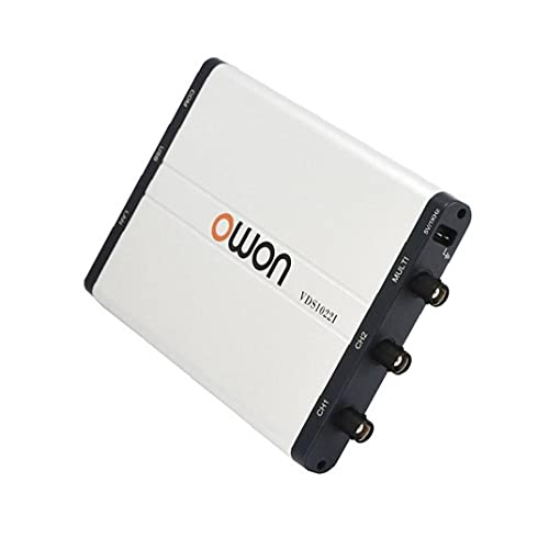 Hainice OWON VDS1022i Osciloscopio Virtual Dual Canal Osciloscopio móvil 25MHz Ancho de Banda analógico Portátil USB Digital