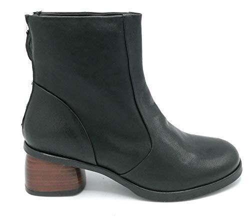 MAT 20 Z4404 leren laarsjes, zwart, ritssluiting, hakbreedte: 4 cm, schoenmaat: 38, kleur: zwart