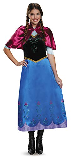 Disguise Women's Anna Traveling Deluxe Adult Costume - Multiple Sizes