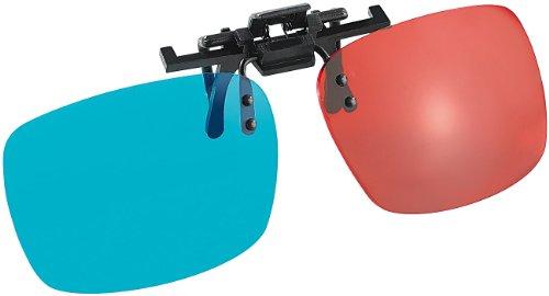 Somikon 3D-Brillenclip: 3D-Aufsatz für Brillenträger, Anaglyphen-Technologie, Rot/Blau (3D-Brillenclips)