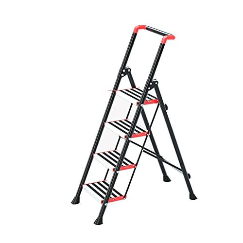 MultifuncióN Escalera Plegable Seguridad PortáTil Taburete con Pies Antideslizantes e Pasamanos para DesváN SalóN BalcóN