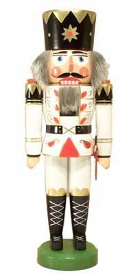 Nussknacker König weiß 40cm NEU Nußknacker Holz Figur Erzgebirge