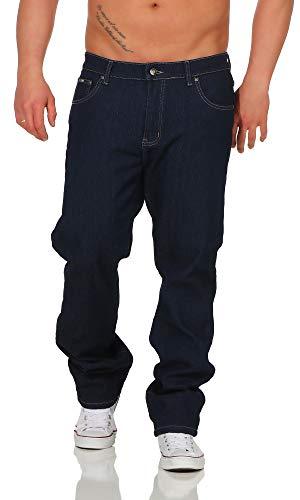 BEZLIT Herren Thermo-Hose Jeans-Hose Stretch Winter-Hosen gefuttert Regular Fit 22893, D 46(Herstellergröße: 52), Navy