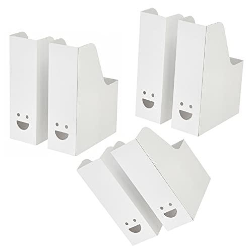 IKEA TJABBA - Organizador de archivos de oficina para revistas (tarjeta blanca) (paquete de 6 en 1)