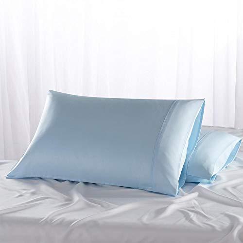 XHSHLID 2 stuks koningin standaard 100% zijde zacht moerbei-kussensloop, vierkant, kussensloop, gemakkelijk te wassen