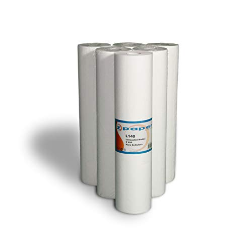 ZPAPER - Lenzuolino Medico - Carta Pura Cellulosa Confezione da 6 rotoli