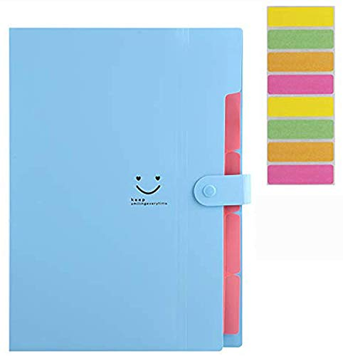 Sooez 4 Pack Expanding File Folders, Accordion Folders Plastic Folders Expanding Folders A4 Letter Size Document Organizer with File Folder Labels(Multicolored) Photo #4