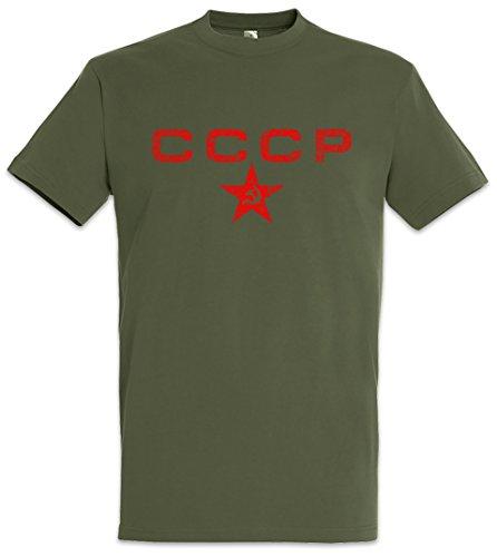 Urban Backwoods Red CCCP Star Herren T-Shirt Braun Größe XL